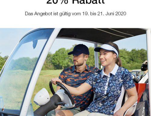 Polo-Alarm! 20% im Pro-Shop auf Backtee Polos